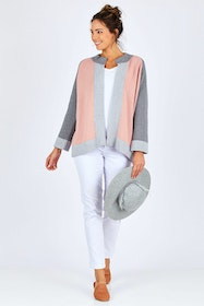 Cotton Cashmere Overlay Knit