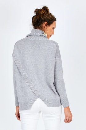 Natural for birds Cotton Cashmere Cross Back Knit