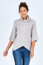 Natural for birds Cotton Wool Blend Cropped Sleeve Knit