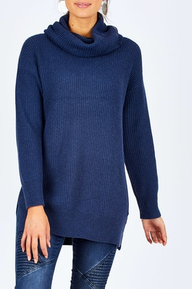 Natural for birds Natural Rolled Neck Tunic