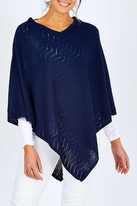 Natural for birds 100% Wool Textured Poncho