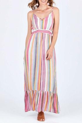 Spicy Sugar Striped Maxi Dress