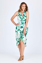 Spicy Sugar Tie Front Leaf Dress
