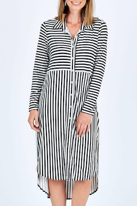 bird keepers The Midi Jersey Shirt Dress