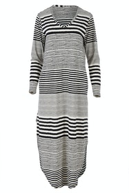 The Striped Pocket Midi Dress