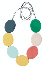 Contrast Flat Disc Necklace