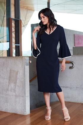 bird by design The Contrast Trim Detail Dress