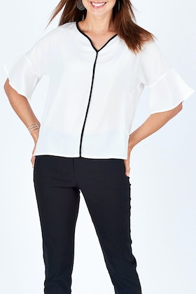 bird by design The Contrast Detail Top