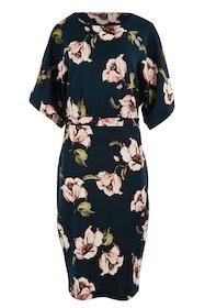 The Printed Kimono Sleeve Pencil Dress