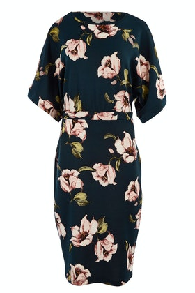bird by design The Printed Kimono Sleeve Pencil Dress