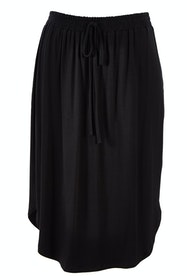 The Midi Curved Hem Skirt