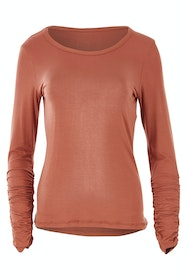 Layer Me Bamboo Rouched Sleeve Tee