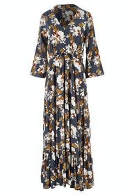 Winter Bloom Maxi Dress