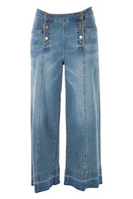 Strolling Along Wide Leg Jeans