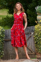 that bird label Leela Fit And Flare Dress Berry Picnic