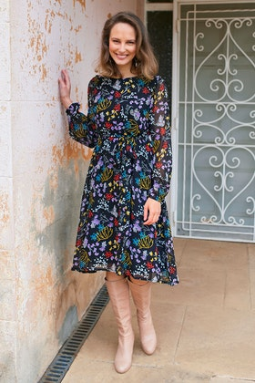 that bird label Odette Dress Garden Dweller