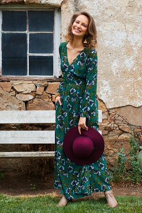 that bird label Ruby Maxi Dress Botanical
