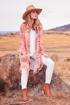 boho bird Flower Fields Duster