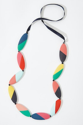 Ruby Olive Carousel Abstract Stripe Necklace