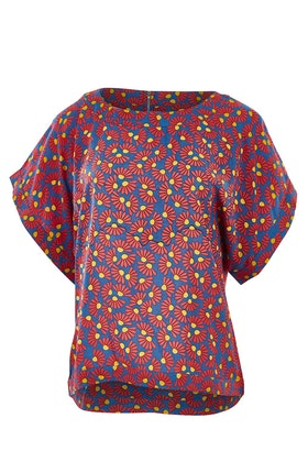 that bird label Lola Bell Sleeve Top Ditsy Daisies