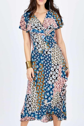 boho bird Life Is Beautiful Wrap Dress