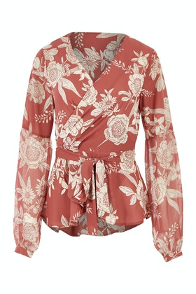 Wish English Rose Wrap Blouse