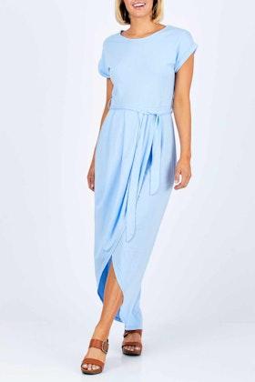 bird keepers The Short Sleeve Midi Wrap Dress