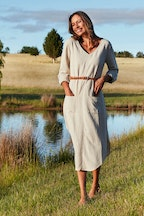 bird keepers The Curved Hem Midi Dress