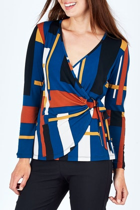 bird by design The Printed Side Ring Detail Blouse