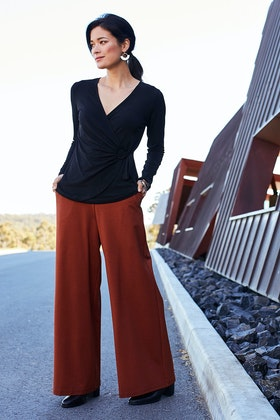 bird by design The Wide Leg Ponte Pant