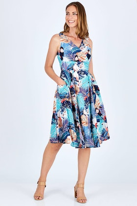 Elise Lorikeet Birds Dress