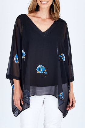 Fate + Becker Soho V-neck Blouse