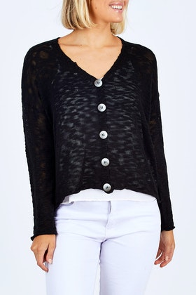 Sass Girl Crush Buttoned Cardi