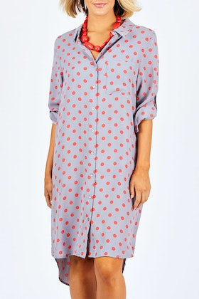 handpicked by birds Printed Shirt Dress