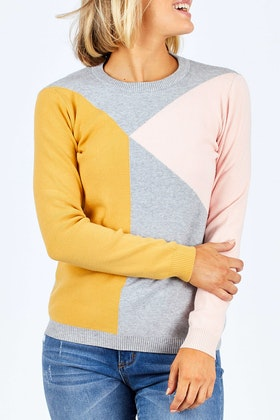 handpicked by birds Block Sweater