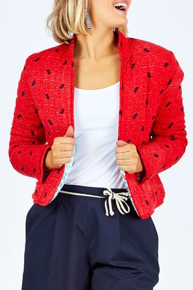 handpicked by birds Reversible Quilted Jacket