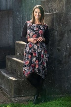 Orientique Leaf Print Dress