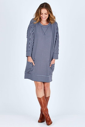 3c1a996620959c bird keepers The Pocket Stripe Shift Dress