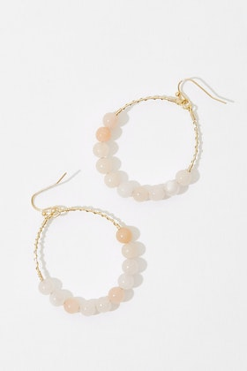 GxG Collective Nicole Semi-precious Hoop Earrings
