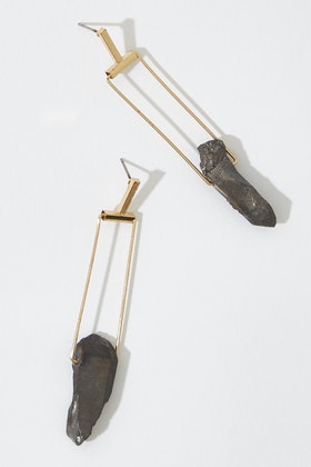 GxG Collective Diane Raw Quartz Earrings
