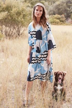 Scandi bird Fiskmas Print Dress