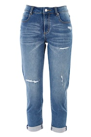 The Distressed Denim Jean