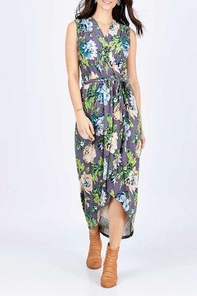 boho bird Freedom Faux Wrap Dress