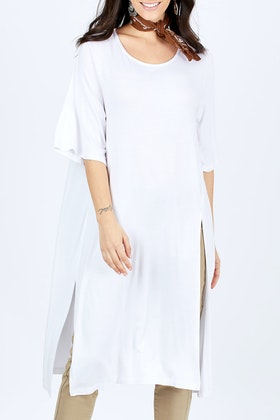boho bird Softly Falling Bamboo Tunic