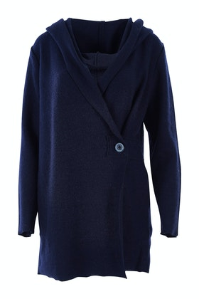 See Saw Hooded One Button Coat