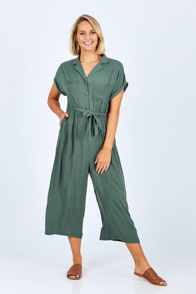 Sass Fixation Buttoned Jumpsuit