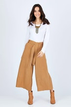 boho bird Coyote Wide Leg Linen Blend Pant