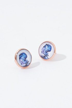 Nest Of Pambula Black Cockatoo Stud Earrings