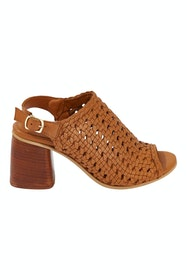 Daffy Woven Leather Heel