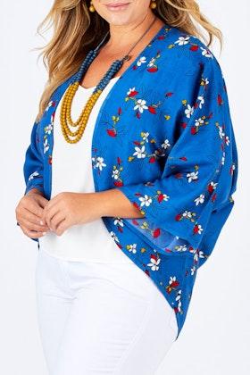that bird label Jade Kimono Sweet Blossoms